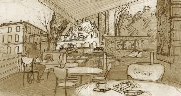 Кафе напротив Райбанка