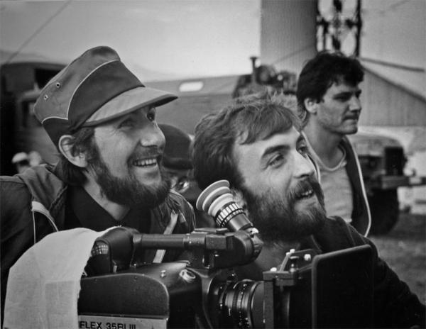 С оператором на съёмочной площадке