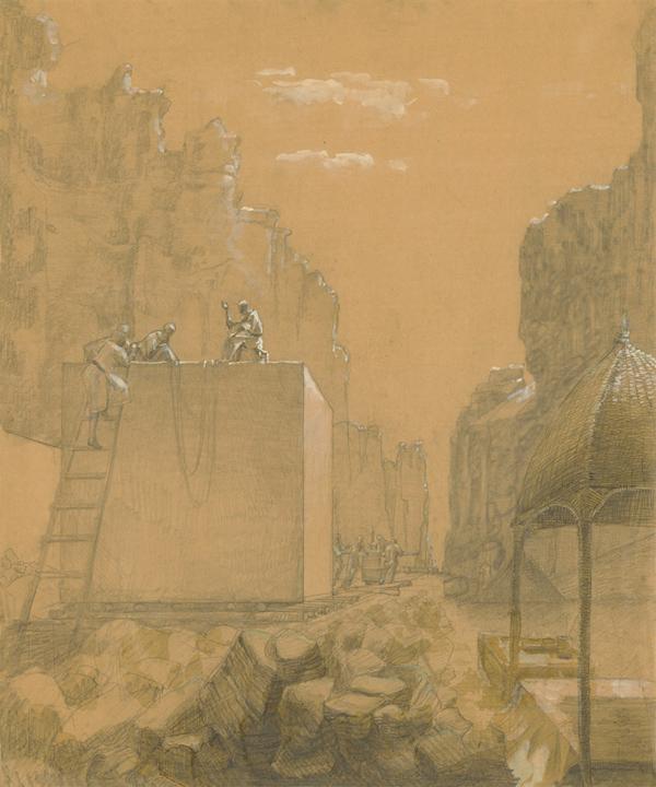 В каменоломне