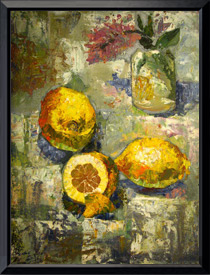 «Натюрморт с лимонами» 30x45 см.