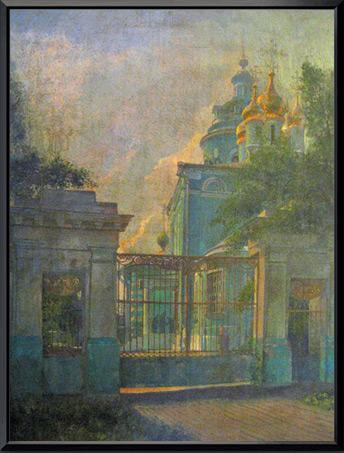 «Голубая церковь в Коломне» 60х80 см.